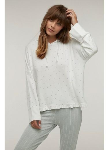 Penti Kadın Beyaz Bright Stars  Sweatshirt PNWSE4LG20SK Beyaz